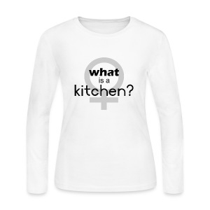 what's a kitchen - Women's Long Sleeve Jersey T-Shirt