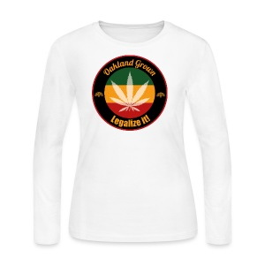 Oakland Grown Cannabis 420 Wear - Women's Long Sleeve Jersey T-Shirt