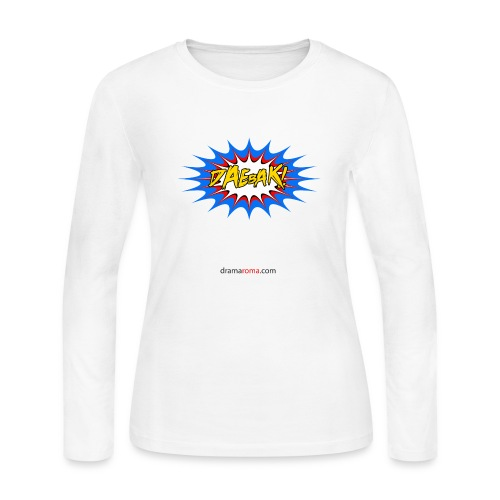 Daebak design from Dramaroma.com - Women's Long Sleeve Jersey T-Shirt