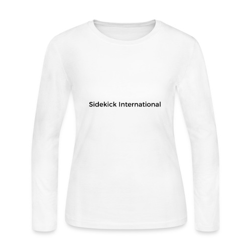 Sidekick International Logo (Black) - Women's Long Sleeve Jersey T-Shirt