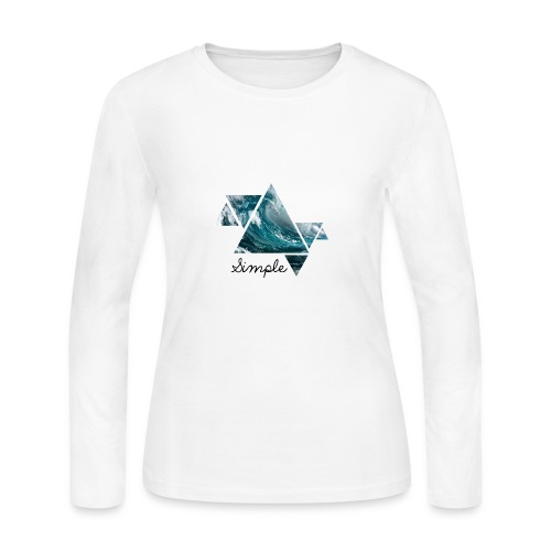 Wave logo(Simple) - Women's Long Sleeve Jersey T-Shirt