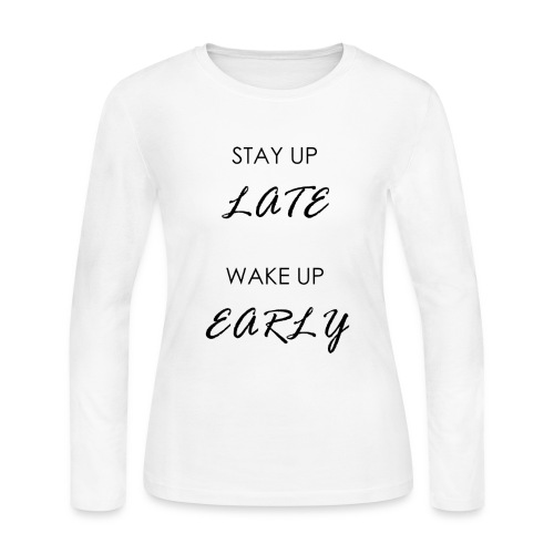 STAY UP LATE - Women's Long Sleeve Jersey T-Shirt