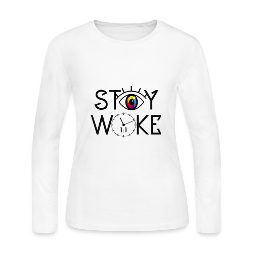 STAY WOKE - Women's Long Sleeve Jersey T-Shirt