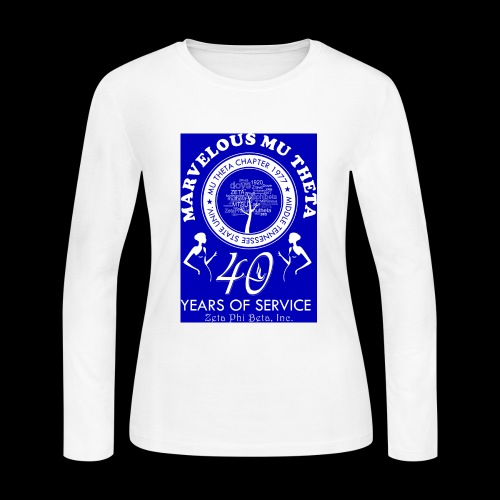 Mu Theta 40th anniversary celebration - Women's Long Sleeve Jersey T-Shirt