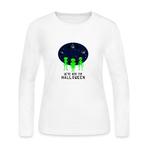 WE'RE HERE FOR HALLOWEEN - Women's Long Sleeve Jersey T-Shirt