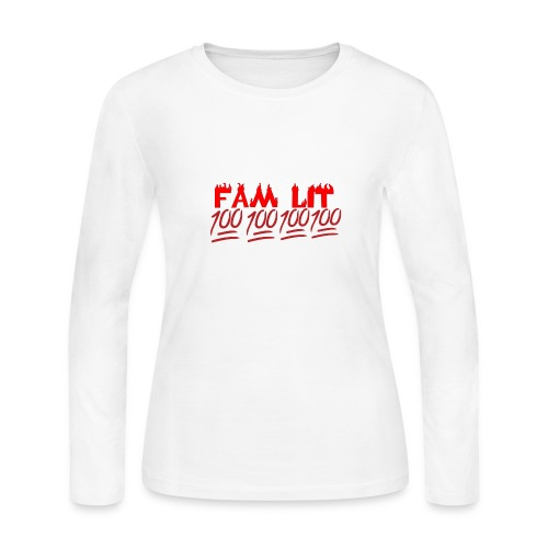 FAM LIT MERCH - Women's Long Sleeve Jersey T-Shirt
