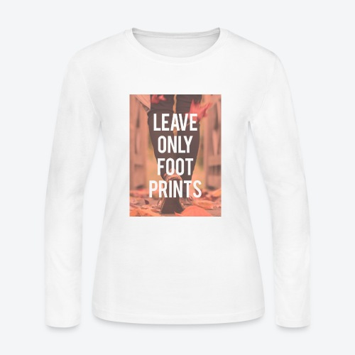 Footprints - Women's Long Sleeve Jersey T-Shirt