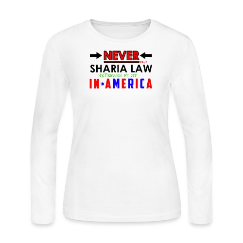 Never Sharia Law - Women's Long Sleeve Jersey T-Shirt