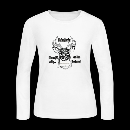 Maine Bucks - Women's Long Sleeve Jersey T-Shirt