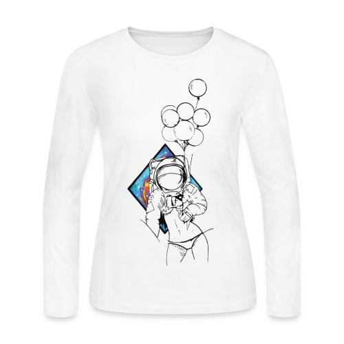 Astronaute - Art'Norme - Women's Long Sleeve Jersey T-Shirt