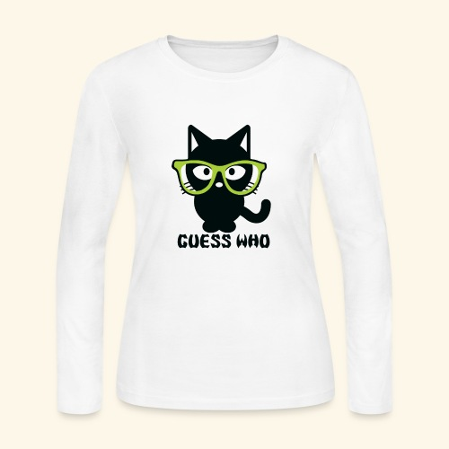 Guess Who Cat - Women's Long Sleeve Jersey T-Shirt