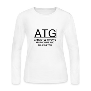 ATG Attracted to gays - Women's Long Sleeve Jersey T-Shirt