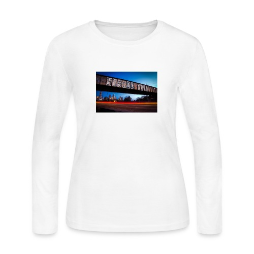Husttle City Bridge - Women's Long Sleeve Jersey T-Shirt