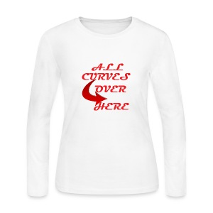 ALL CURVES OVER HERE - Women's Long Sleeve Jersey T-Shirt