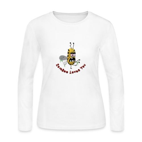 ZomBee Loves You - Women's Long Sleeve Jersey T-Shirt