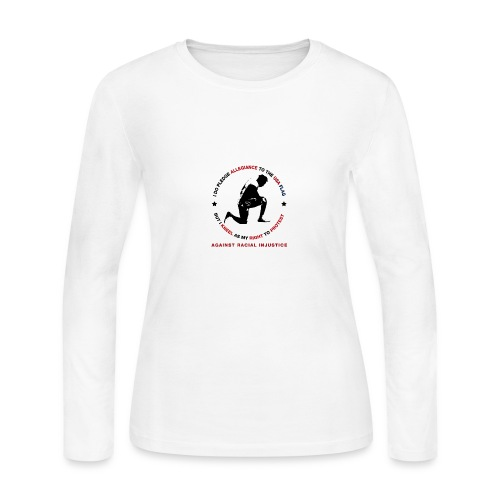 I Pledge Allegiance Against Racial Injustice - Women's Long Sleeve Jersey T-Shirt