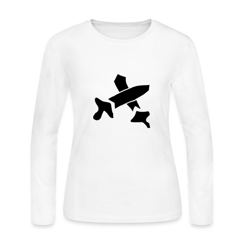 Black Swords - Women's Long Sleeve Jersey T-Shirt