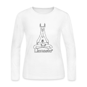 Llamaste White Logo - Women's Long Sleeve Jersey T-Shirt