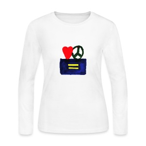 Peace, Love and Equality - Women's Long Sleeve Jersey T-Shirt