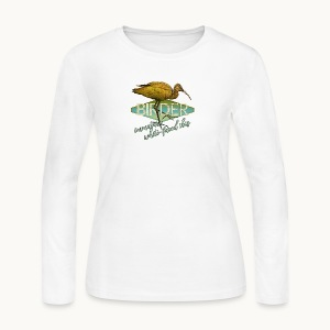 BIRDER - White-faced ibis - Carolyn Sandstrom - Women's Long Sleeve Jersey T-Shirt
