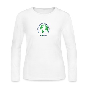 TEARTH FIRST BACK SIDE - Women's Long Sleeve Jersey T-Shirt