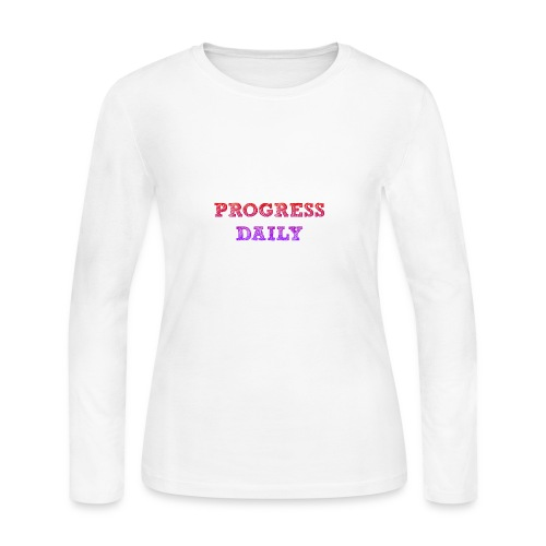 Progress Daily - Women's Long Sleeve Jersey T-Shirt