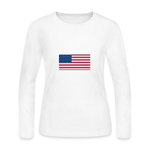 usa flag - Women's Long Sleeve Jersey T-Shirt