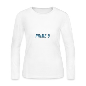 Prime 5 Text Logo - Women's Long Sleeve Jersey T-Shirt