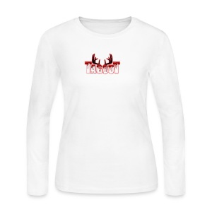 Tagout Bloody Antlers - Women's Long Sleeve Jersey T-Shirt