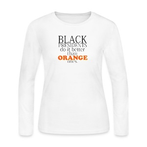 black presidents do it better - Women's Long Sleeve Jersey T-Shirt