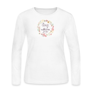 My Grace is Sufficient - Women's Long Sleeve Jersey T-Shirt