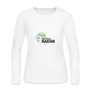 Political Radar Logo - Black - Women's Long Sleeve Jersey T-Shirt