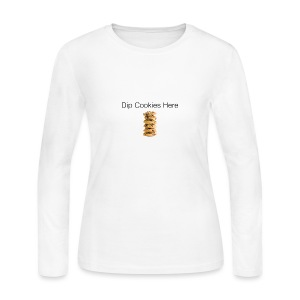 Dip Cookies Here mug - Women's Long Sleeve Jersey T-Shirt