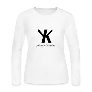 Young Kevino Official Logo (Black) - Women's Long Sleeve Jersey T-Shirt