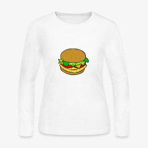 Comic Burger - Women's Long Sleeve Jersey T-Shirt