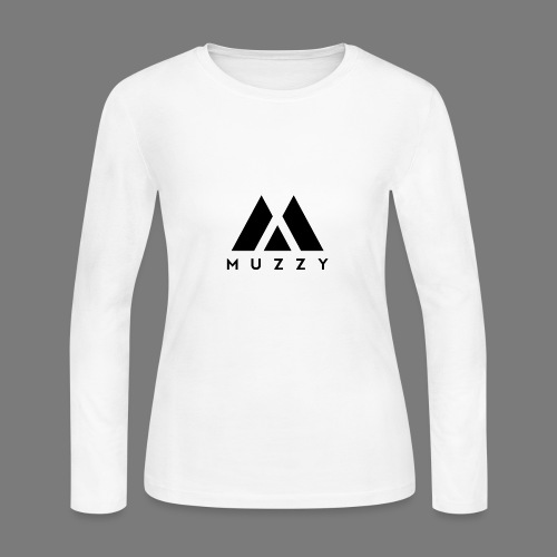 MUZZY Offical Logo Black - Women's Long Sleeve Jersey T-Shirt
