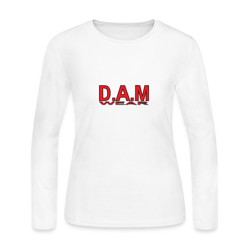 BIG RED D A M LETTERS - Women's Long Sleeve Jersey T-Shirt