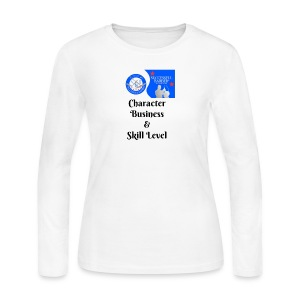 Character, Business & Skill Level - Women's Long Sleeve Jersey T-Shirt
