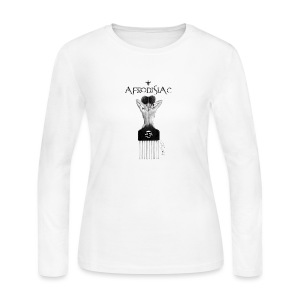 tshirtAfroArtD2 copy - Women's Long Sleeve Jersey T-Shirt