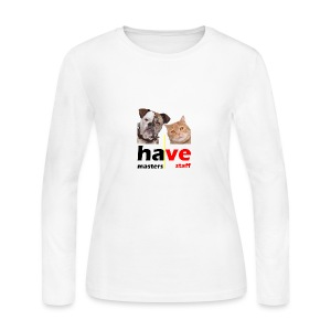Dog & Cat - Women's Long Sleeve Jersey T-Shirt