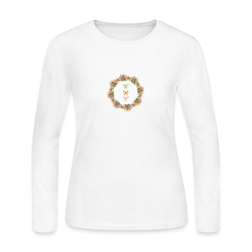 Floral Design - Women's Long Sleeve Jersey T-Shirt