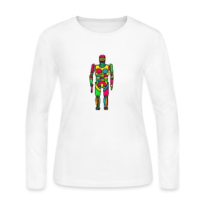 Cartoon Robocop in Color - Women's Long Sleeve Jersey T-Shirt