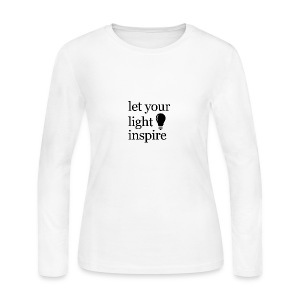 Let Your Light Inspire Sports Tank (black font) - Women's Long Sleeve Jersey T-Shirt