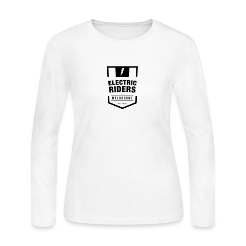 Electric Riders Melbourne - Logo Small Black - Women's Long Sleeve Jersey T-Shirt