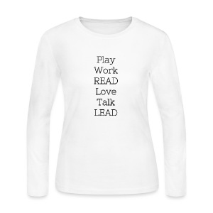 Play_Work_Read - Women's Long Sleeve Jersey T-Shirt