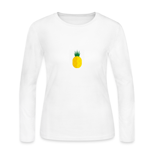 Pixel looking Pineapple - Women's Long Sleeve Jersey T-Shirt