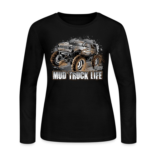Mega Mud Truck LIFE - Women's Long Sleeve Jersey T-Shirt