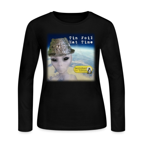 Tin Foil Hat Time (Earth) - Women's Long Sleeve Jersey T-Shirt