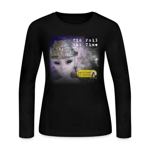 Tin Foil Hat Time (Space) - Women's Long Sleeve Jersey T-Shirt