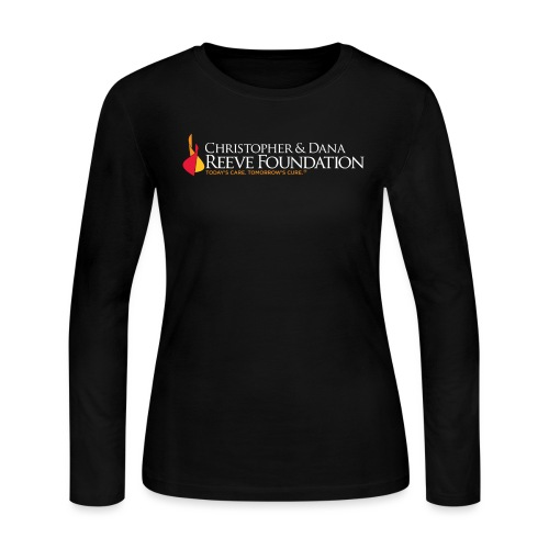Reeve Foundation Logo White Type Flame Solid - Women's Long Sleeve Jersey T-Shirt